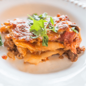 Lasagna made with Cottage Cheese, shared by Sweet C Designs