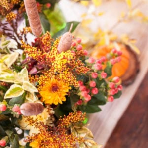 Layered Thanksgiving Centerpiece, shared by Creative Cain Cabin