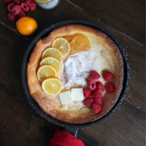 Lemon Raspberry Dutch Baby, shared by The Kittchen