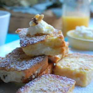 Mascarpone French Toast with Orange Sauce, shared by A Sprinkle of This and That