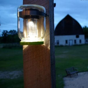 Mason Jar Solar Lights Tutorial shared by Grandma's House DIY