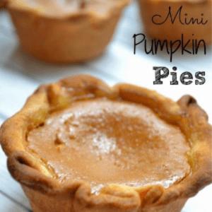 Mini Pumpkin Pies, shared by With a Blast