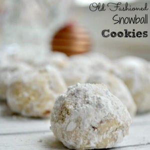 Old Fashioned Snowball Cookies, shared by To Simply Inspire