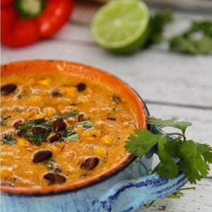 One Pot Chicken Enchilada Soup shared by A Dish of Daily Life
