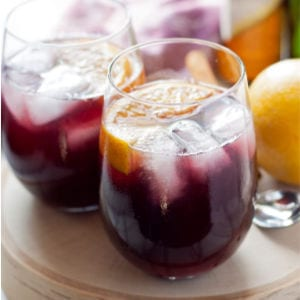 Orange Red Wine Spritzers, shared by Honey & Birch