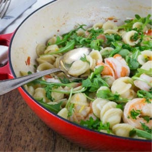 Orecchiette with Shrimp, Fennel & Arugula shared by Analida's Ethnic Spoon