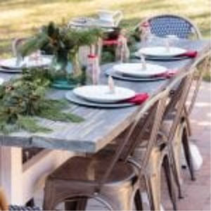 Outdoor Farmhouse Table Set for Holiday Brunch shared by Atta Girl Says
