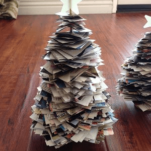 Paper Christmas Trees, shared by Simple Joys