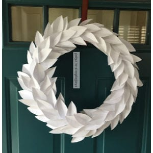 Paper Wreath shared by Simple Joys