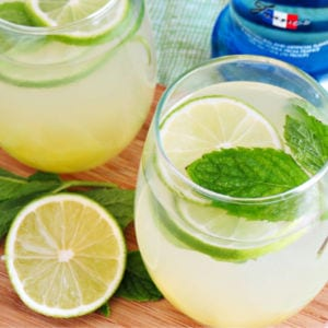 Pineapple Vodka Limeade, shared by Home Cooking Memories