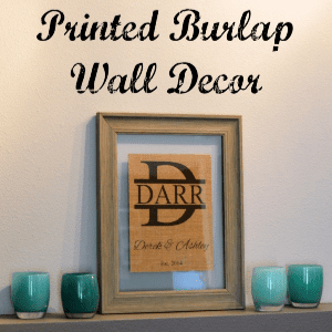 Printed Burlap Wall Decor, shared by Simply Darrling