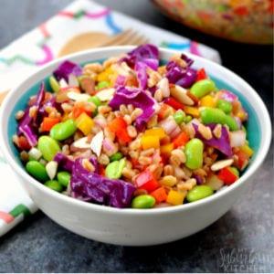 Rainbow Farrow Salad, shared by My Suburban Kitchen