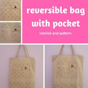 Reversible Bag with Pocket shared by My Crafty World