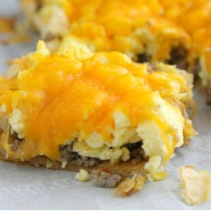 Sausage, Egg & Cheese Breakfast Tart. shared by The Bitter Side of Sweet