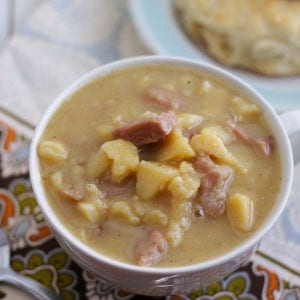 Simple Ham & Potato Chowder shared by Frugal Foodie Mama
