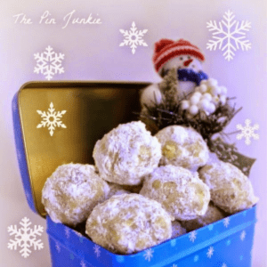 Snowball Cookies, shared by The Pin Junkie