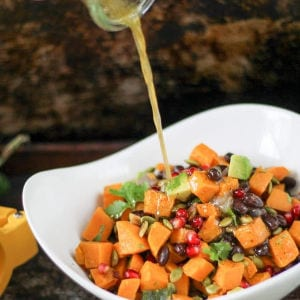 Southwest Sweet Potato Salad with Honey Lime Vinaigrette Dressing shared by Take Two Tapas