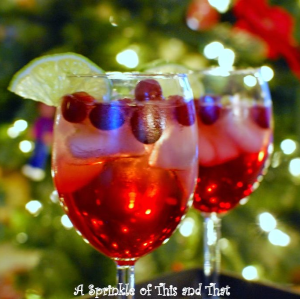 Sparkling Cranberry Spritzer (non-alcoholic), shared by A Sprinkle of This and That