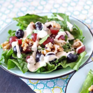 Spinach Salad with Poppyseed Dressing, shared by Honey & Birch