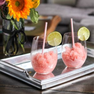 Strawberry Rosé Slushies, shared by The Kittchen