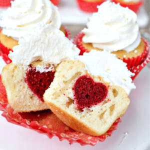 Surprise Inside Heart Cupcakes, shared by This Silly Girl's Kitchen