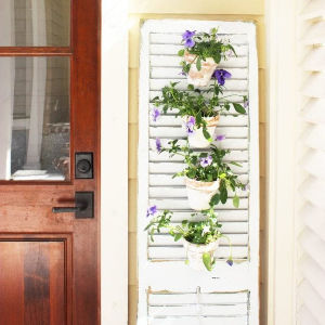 Tuscan Shutter Garden shared by Simple Nature Decor