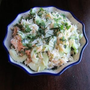 Tzatziki Orzo Salad, shared by Cooking with Carlee