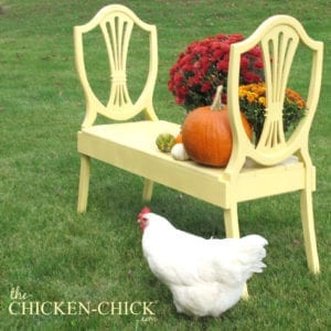 Upcycled Chair Bench - The Chicken Chick®