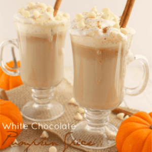 White Pumpkin Spice Latte, shared by Delightful E Made