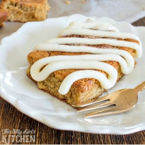 Cinnamon Roll Blondies, shared by This Silly Girl's Kitchen