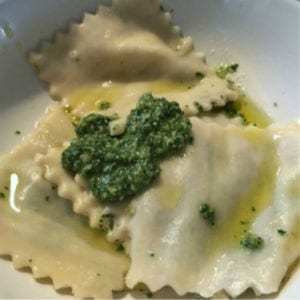 Homemade Kale Pesto Ravioli, shared by Drugstore Divas