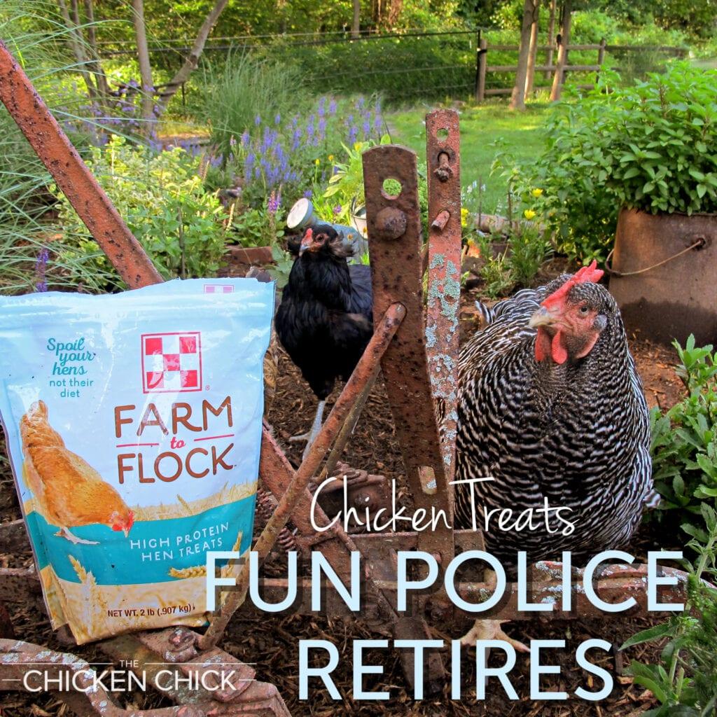 Chicken Treats Fun Police Retires!
