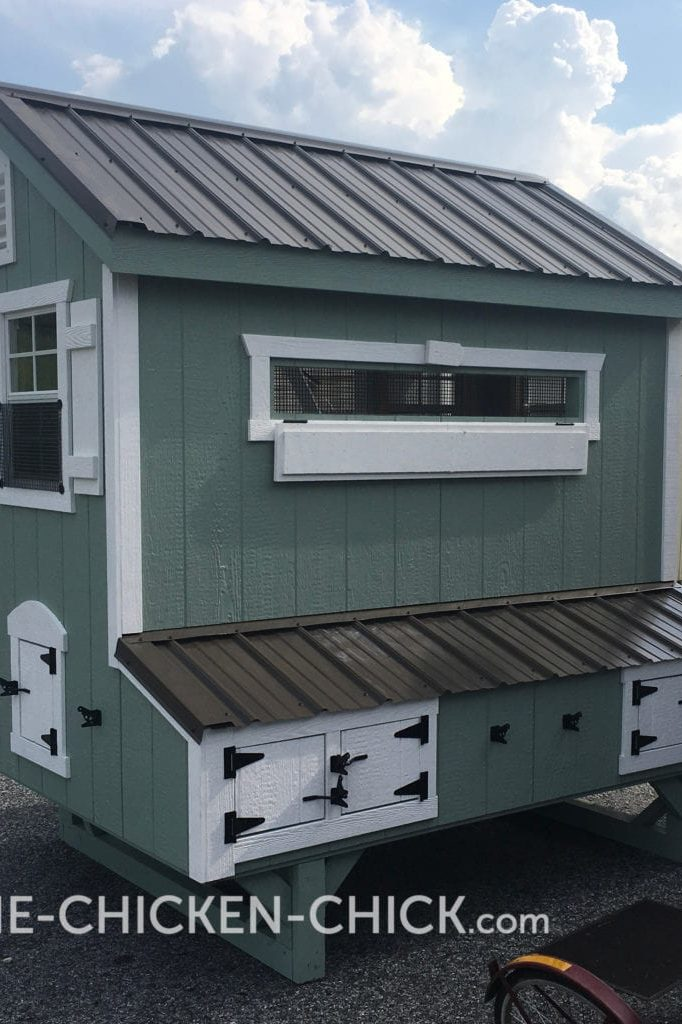 The Chicken Chick's Essential Coop® nest boxes & storage cabinet
