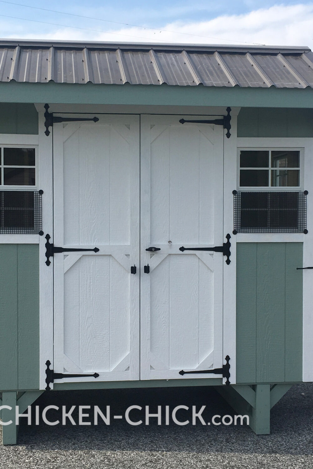 The Chicken Chick's Essential Coop® Locking, Double Doors for People Access and easy clean-out