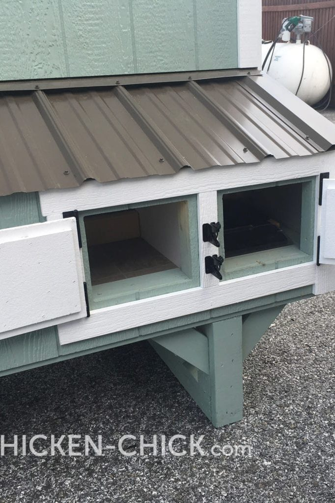 The Chicken Chick's Essential Coop™ convertible communal nest boxes