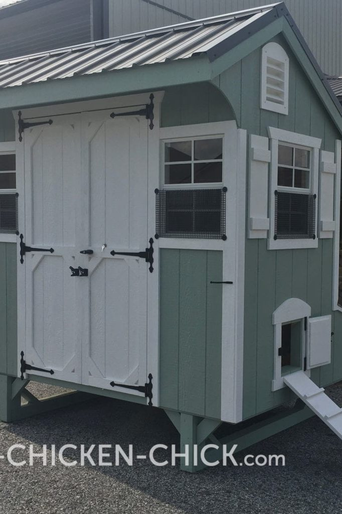 The Chicken Chick's Essential Coop® Locking, Double Doors for People Access